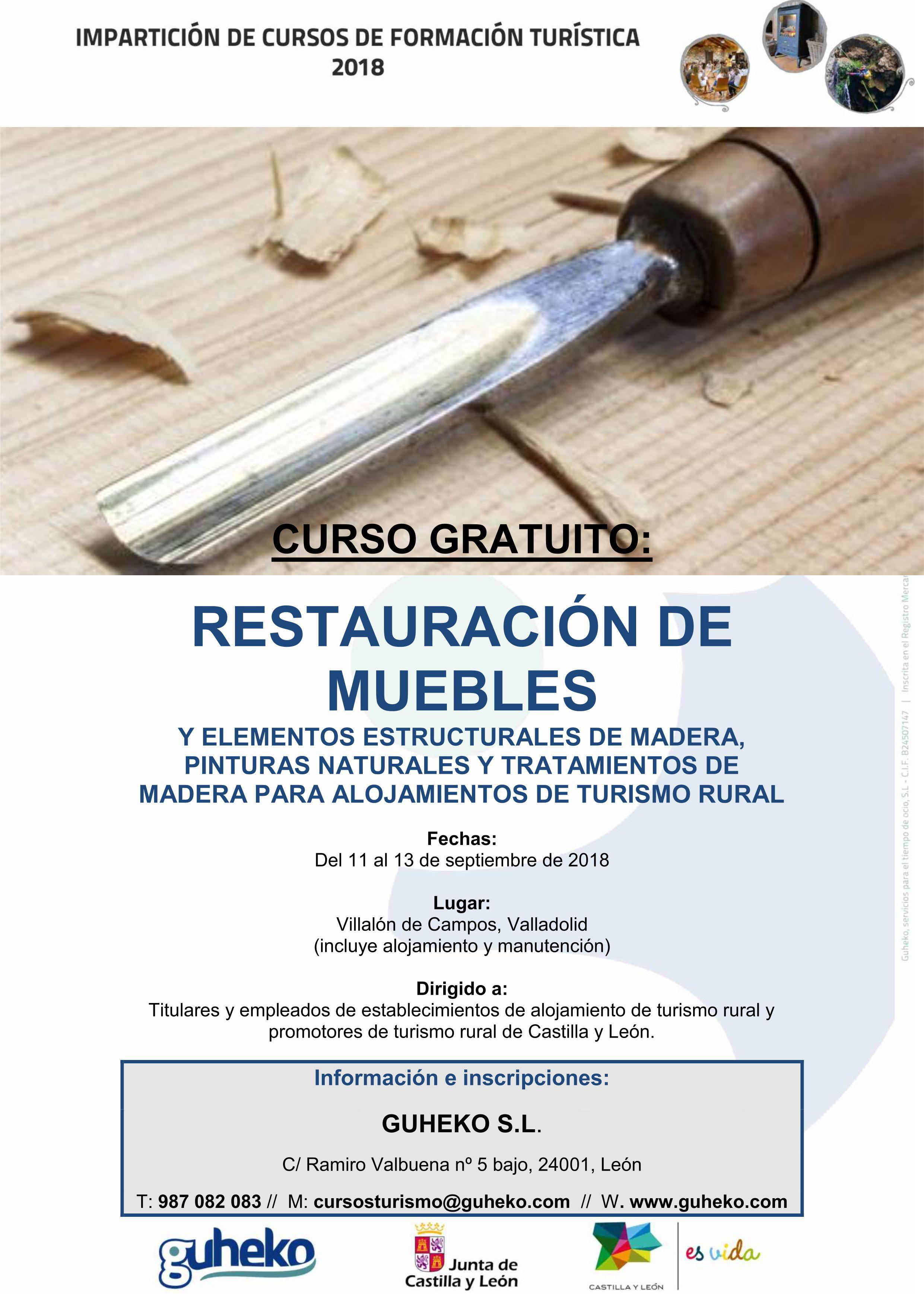 Fechas 11 12 y 13 de septiembre de 2018 for Cursos de restauracion de muebles en madrid