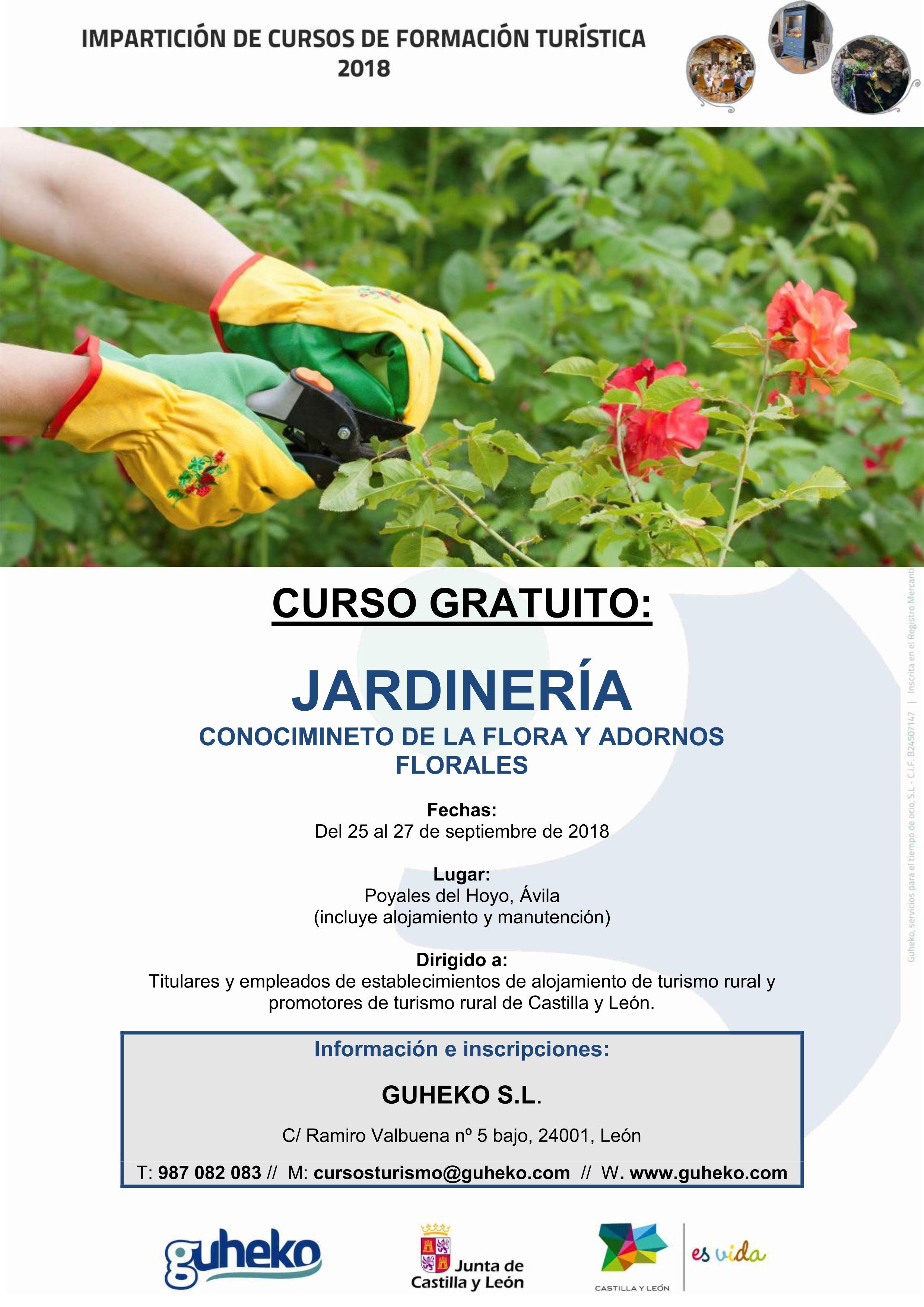 Curso gratuito jardiner a flora y adornos florales for Curso jardineria