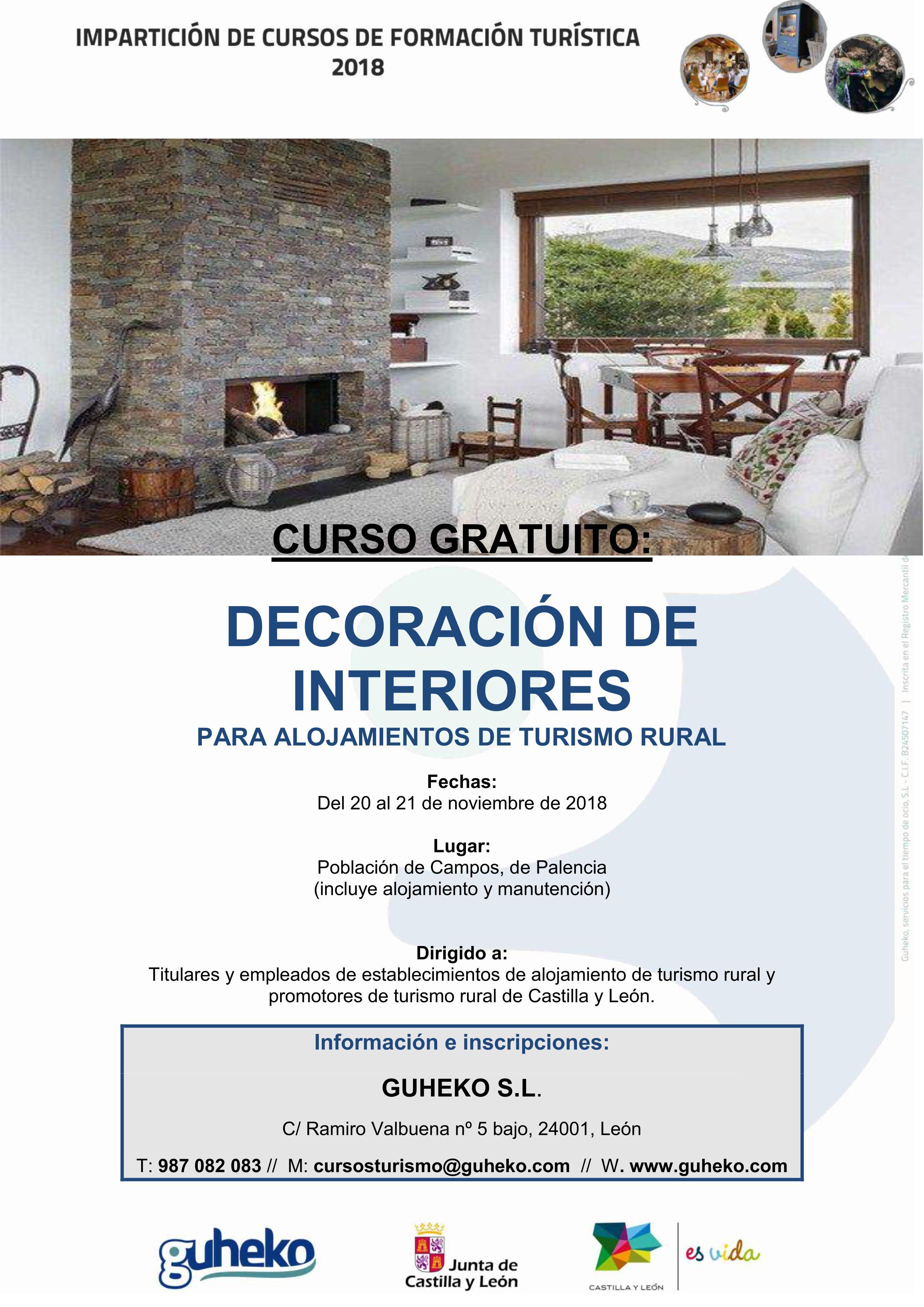 Guheko Turismo Ocio Y Tiempo Libre Curso Gratuito Decoracion De - Decoracion-rural-interiores