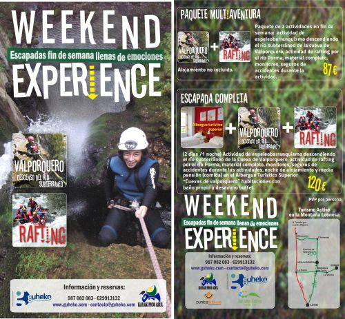 Flyer weekend experience valporquero y rafting 2014